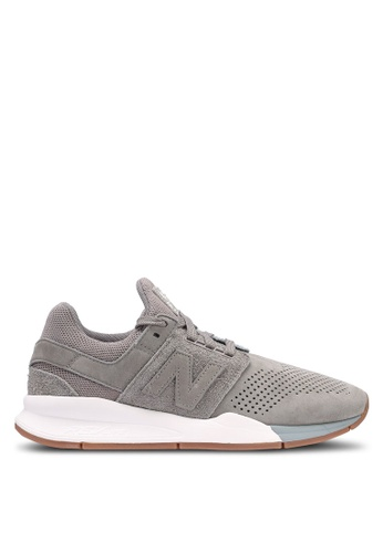 New Balance grey 247 Lifestyle Shoes 3D080SHE0E1A92GS_1