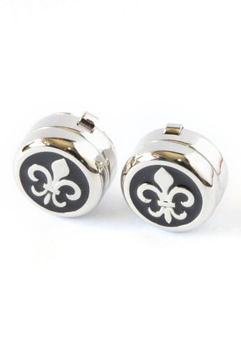 Splice Cufflinks Fleur de Lys Design Cuff Button Covers SP744AC92DQLSG_1