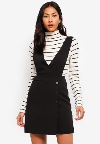 Hopeshow black Suspender Skirt C7140AAAD25200GS_1