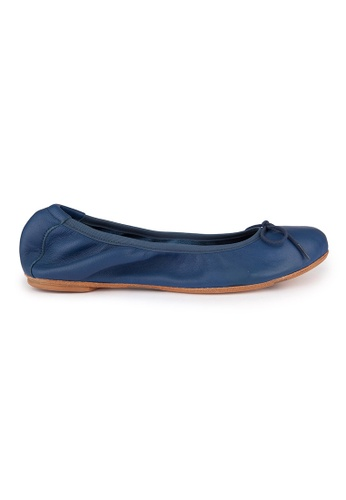 MAUD FRIZON blue Soft kid foldable ballerinas MA153SH50YEJHK_1