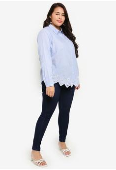 589aec63980393 41% OFF Junarose Plus Size Lavax Long Sleeve Shirt S$ 79.00 NOW S$ 46.30  Sizes 42 44 46 48 50