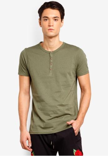 Brave Soul 褐色 短袖品牌刺繡T恤 7CEF7AA4B8B93CGS_1