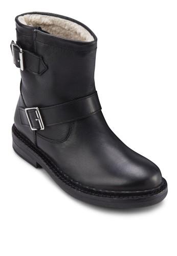 雙扣環仿皮雪靴, 女zalora退貨鞋, 鞋