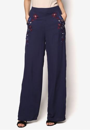 Luxe 繡花寬管長褲, 服esprit台灣飾, 長褲及內搭褲