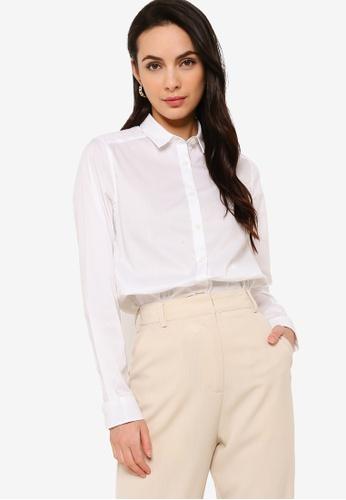 Sacoor Brothers white Long sleeve Women's classic shirt 81BDFAAEA84A82GS_1