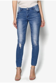 Washed Dull Denim Jeans