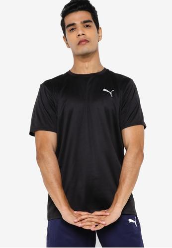 PUMA black Favourite Short Sleeve Men's Running Tee 938AAAAFCA9AB7GS_1