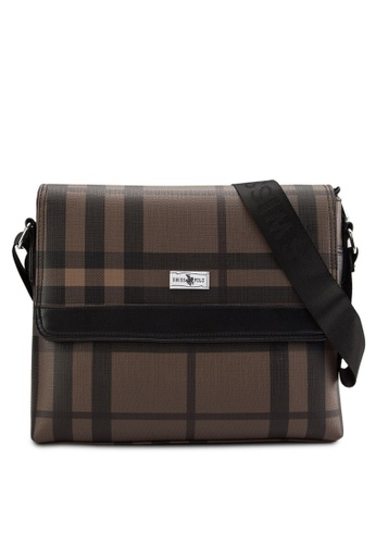 Swiss Polo brown Swiss Polo Messenger Bag SW912AC29XFAMY_1