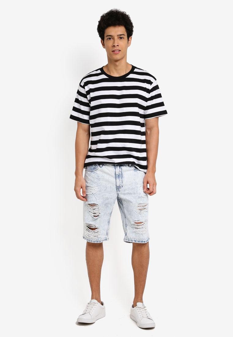 Tee Cotton On Stripe Bold White Black Dylan RwqWd56R