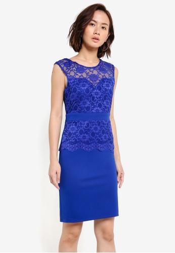 Dorothy Perkins blue Cobalt Jenny Lace Dress DO816AA0RJPYMY_1
