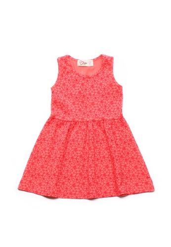 Mini Moley pink Floral Design Girl's Dress 6CE9FKABBD5477GS_1