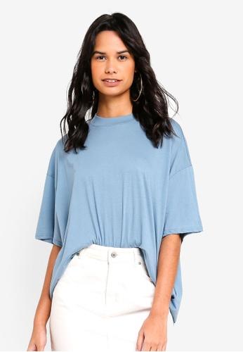 TOPSHOP blue High Neck T-Shirt EB0E6AAB7029ECGS_1