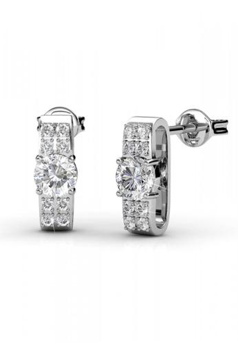 Her Jewellery silver Luxx Earrings - Licensed Genuine Crystals from Swarovski® HE581AC0RDGWMY_1