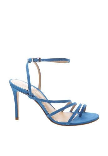 SCHUTZ blue Sport Blue Nubuck Ankle Strap Sandal Heel - CLARA [SPORT BLUE] 1232FSHD2DD996GS_1