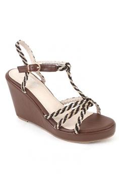 2e3a37998765 7soles brown Ashanti Wedge Sandals 53545SHE691324GS 1