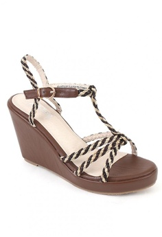 cb00afd792b1 7soles brown Ashanti Wedge Sandals 53545SHE691324GS 1