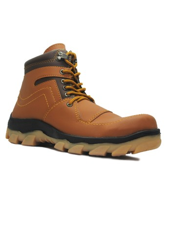 Cut Engineer brown Cut Engineer Radial Safety Boots Iron Leather Brown CU226SH30BEVID_1