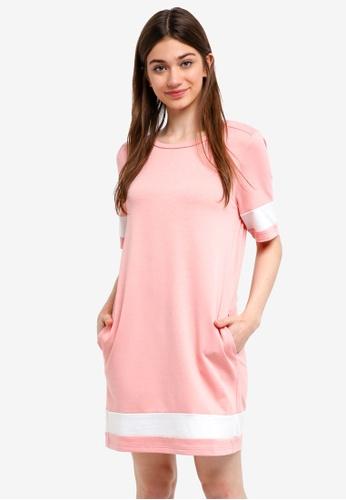 Something Borrowed pink Colorblock T-Shirt Dress 57024AA7ADB99AGS_1