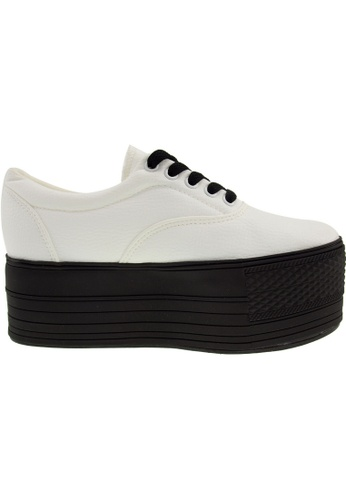 Maxstar white Maxstar Women's C60 5 Holes Platform PU Low Top Sneakers US Women Size MA164SH09PQCSG_1