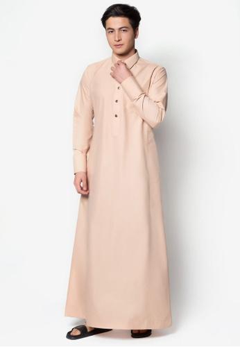Amar Amran brown Jubah A Daler Yusuf Edition Slim Fit (Nude Tan) AM362AA85TYOMY_1