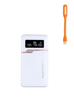 AP390 Power Piano Paint 36000mAh Smart Polymer Powerbank with Free LED Light (white)