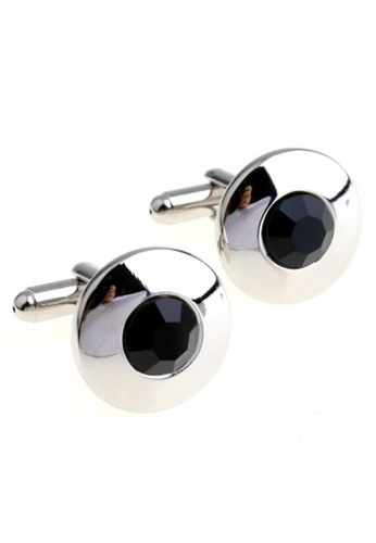The Little Link Cufflinks silver Black Topaz Cufflinks TH089AC75SFCSG_1