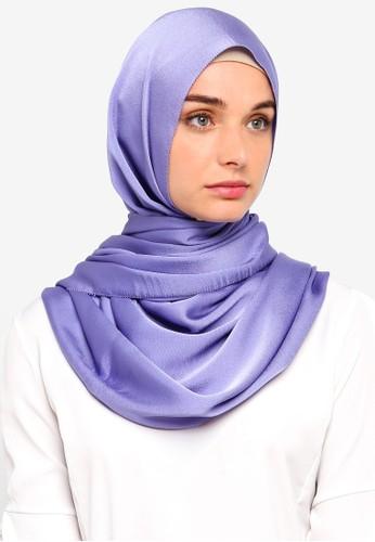 VERCATO purple Premium Luxe Satin Shawl D6799AA372A1D4GS_1