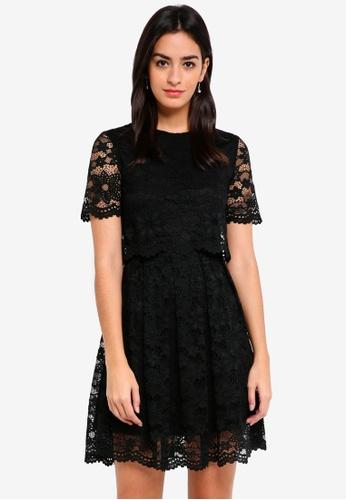 ZALORA black Bridesmaid Crop Top Lace Dress 435AFAAA4321F1GS_1