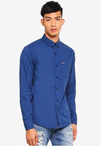 Hollister 海軍藍色 休閒長袖襯衫 3F70CAAFC2413DGS_1