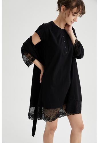 DeFacto black Woman 2-pieces Nightwear Set D4954AAD16A6C2GS_1