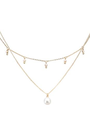 Call It Spring white Ferny Necklace 4EDA8AC845EB37GS_1