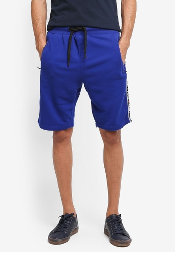 Superdry blue Superdry Stadium Shorts 3A06BAAABEDCF6GS_1
