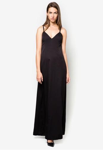 挖背細帶長洋裝, 服zalora 評價飾, 洋裝