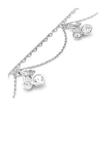 Glamorousky silver Elegant Cherry Anklet with Silver Austrian Element Crystals F235AACD1E6FD8GS_1