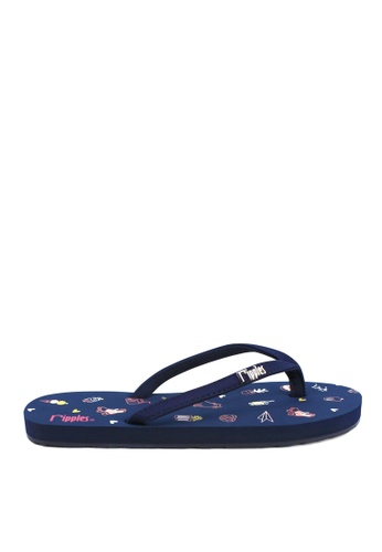 Ripples blue Tiny Things Flip Flops 0C1A3SH638C05EGS_1