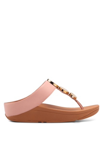 Fitflop pink Halo Toe Thong Sandals B8BAFSH82C408FGS_1
