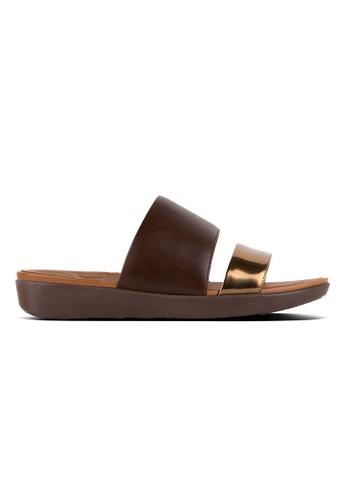 c5b41887a FitFlop brown Fitflop Delta Slide Sandals (Espresso   Bronze Mirror)  036D9SH63358E6GS 1