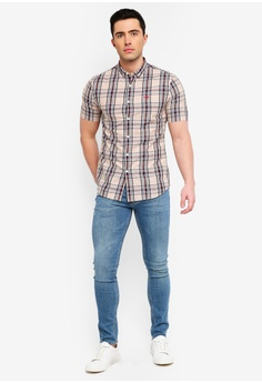 d51ddfd0e2 River Island Check Wasp Embroidered Shirt S  44.90. Sizes XS S M L XL