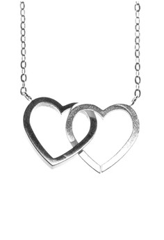 Double Heart Interlocked Necklace