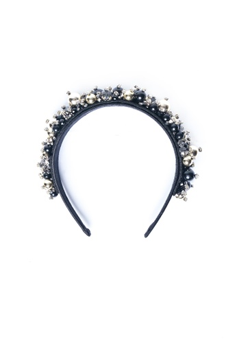 Limkokwing Fashion Club gold Gold Beaded Headband LI086AC05DYCMY_1