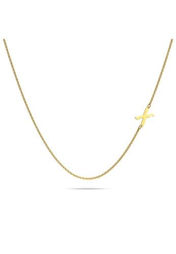 Bullion Gold gold BULLION GOLD Bold Alphabet Letter Initial Charm Necklace in Gold Tone - X 6D9C8AC5F6FC79GS_1