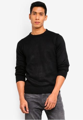 OVS 黑色 圓領針織衫 0E55CAAD6B9720GS_1