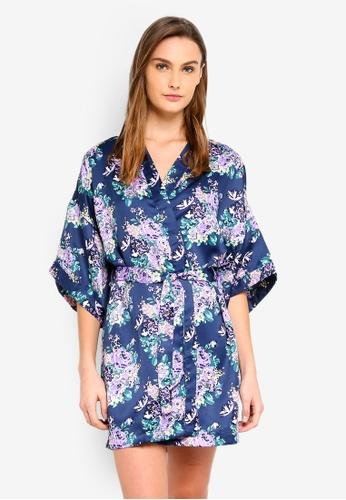 Cotton On Body blue and multi Kimono Gown 9205FAA1BB6523GS_1