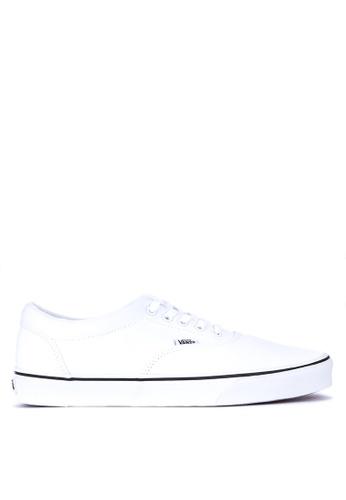 VANS white Black Foxing Doheny Sneakers E4048SHEFF4326GS_1