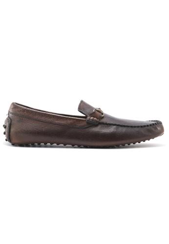 Gay Giano 褐色 水牛皮莫卡辛鞋 0F0C1SH3BA6FA8GS_1