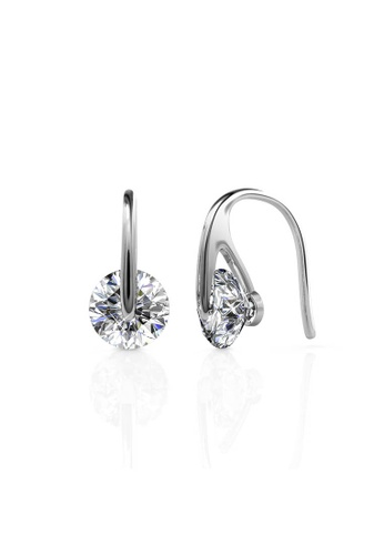 Her Jewellery silver Classy Earrings (White Gold) - Made with premium grade crystals from Austria HE210AC03HFGSG_1