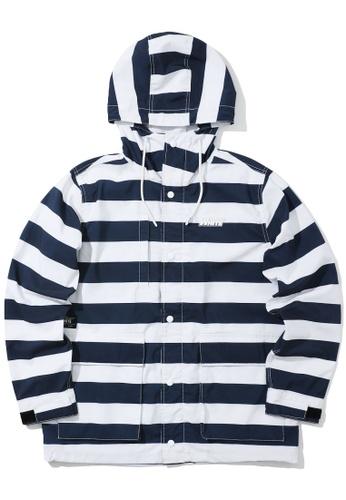 :CHOCOOLATE navy Stripe logo jacket 4AC25AA66FF323GS_1