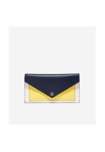 Cole Haan multi Cole Haan Color Block Flap Wallet - British Tan/Lemon Drop/Ivory 30DC7AC2D460FDGS_1