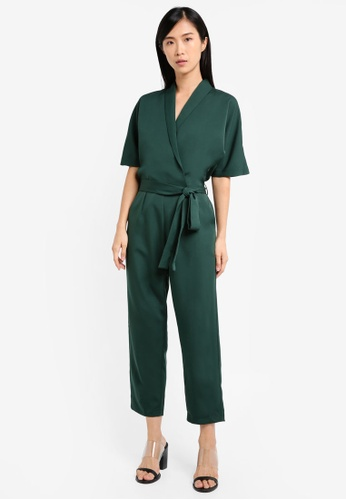 Buy Sleeve Zalora Wrap Kimono JumpsuitHk j43A5RL