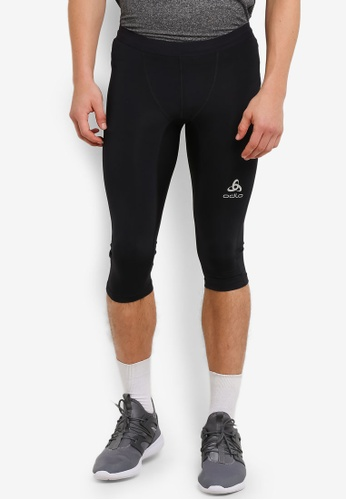 Odlo black Vigor 3/4 Tights OD608AA0S13BMY_1